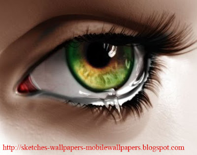 Amazing Sketches of eye 3D Art Wallpapers