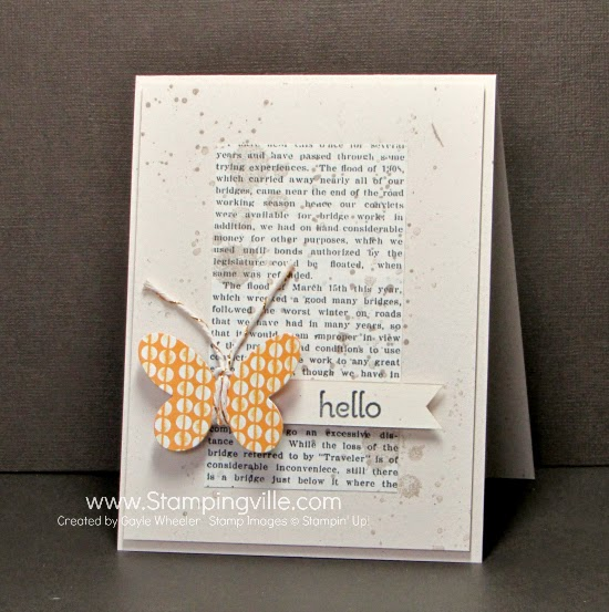 Quick + easy hello/thinking of you card | Stampingville #cardmaking #papercrafts #StampinUp