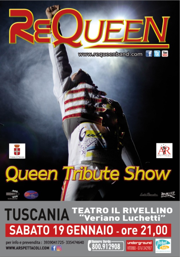 #Queen Tribute Show Tuscania 19 Gennaio
