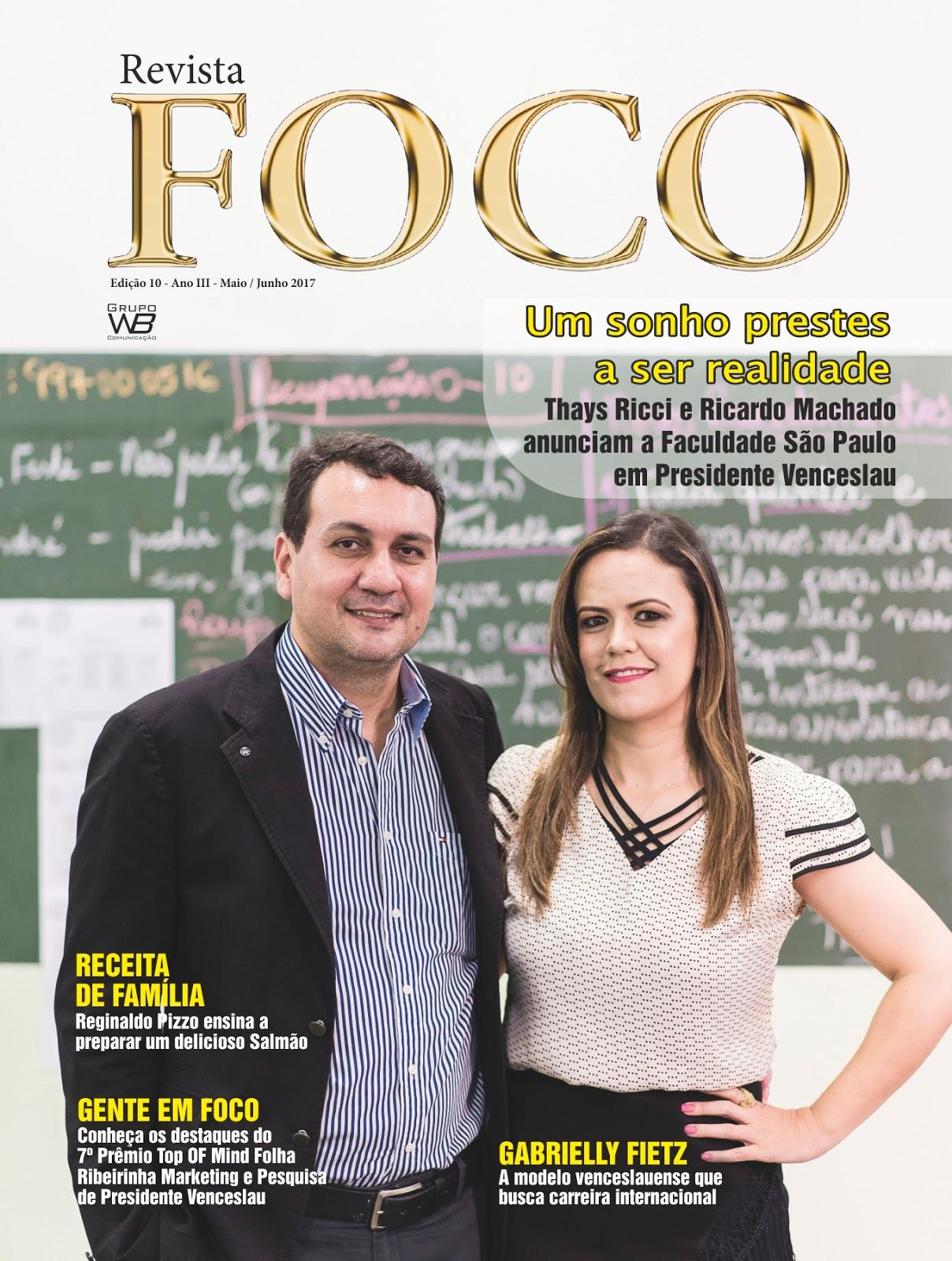 Leia a Revista Foco Maio/Junho - 17