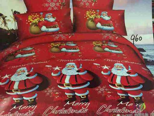 Sprei Katun Jepang Motif Santa Claus