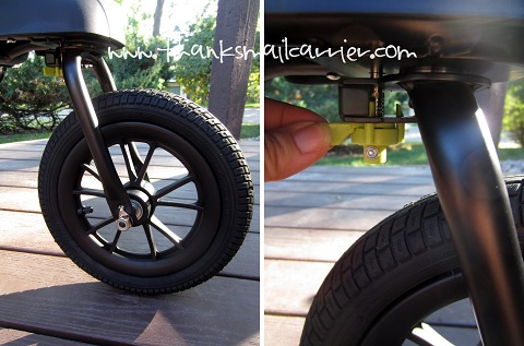 locking front wheel