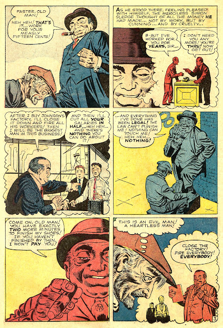 Amazing Adventures 4, The Bootblack--'I'll cut all your salaries in half...heh heh...and there's nothing you can do about it!'