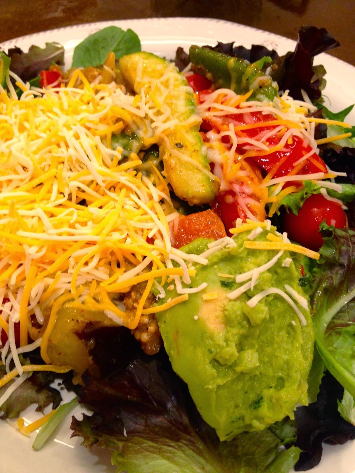 veggie-fajita-salad