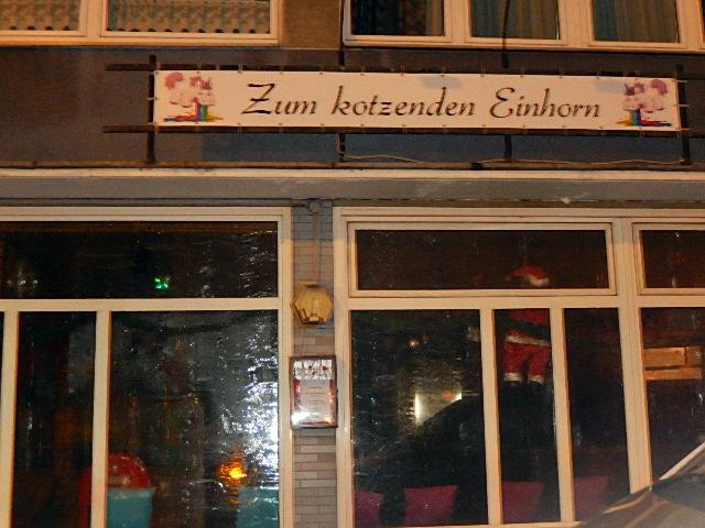 Einhorn Düsseldorf taximann toller kneipennamen zum kotzenden einhorn
