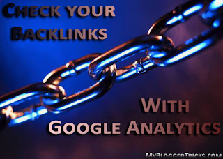 Check Backlinks with Google Analytics