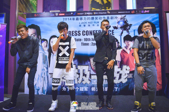 "The official theme song of The Lion Men: Ultimate Showdown was performed together by the four young star ""我们是兄弟"""