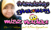 Friendship Giveaway by Misz Nadea!!~  :p