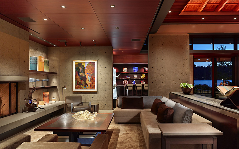 Beautiful Custom Furniture Designer By Werner Fills The Comfortable Living Areas.