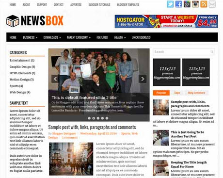 NewsBox Free Blogger Template