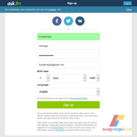 Membuat Akun Ask.fm Terbaru dan Cara Menggunakannya