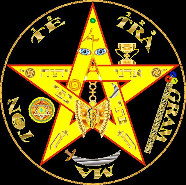 the-symbol-star-pentagram-of-5-corner