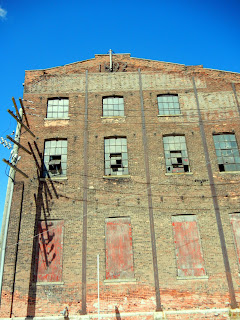 Vacant building in downtown Detroit, Michigan