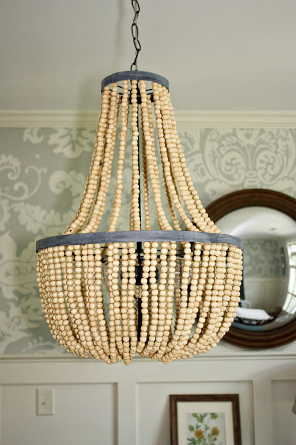 My sweet savannah diy beaded chandeliers be prepared though she used around 3000 wooden beads on this bad boy aloadofball Choice Image