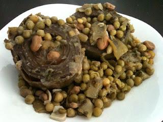 Cocina con Aníbal Alcauciles con guisantes
