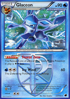 Glaceon Plasma Freeze Pokemon Card