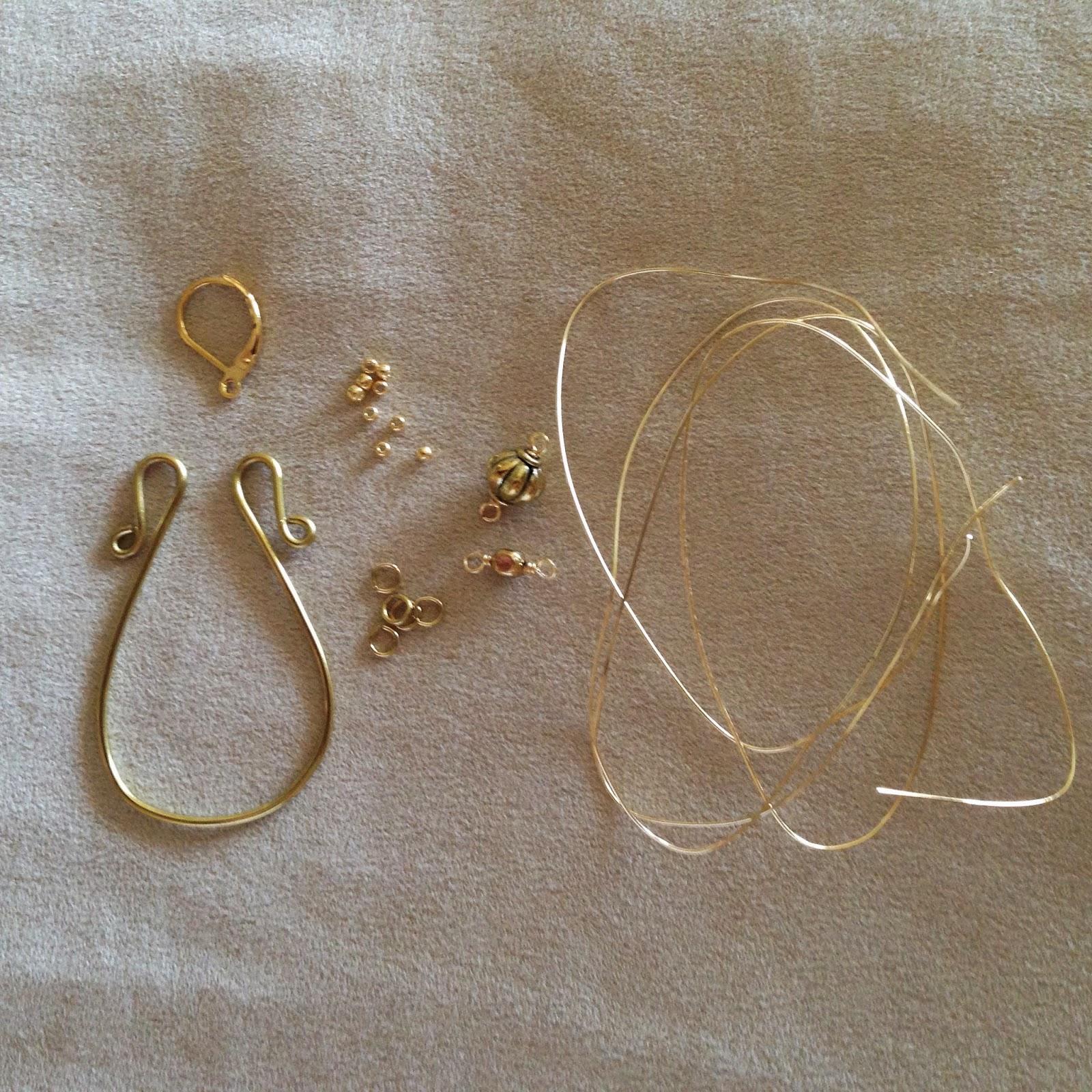 Everyday Bijoux Wire Wrapped Gold Chandelier Earrings