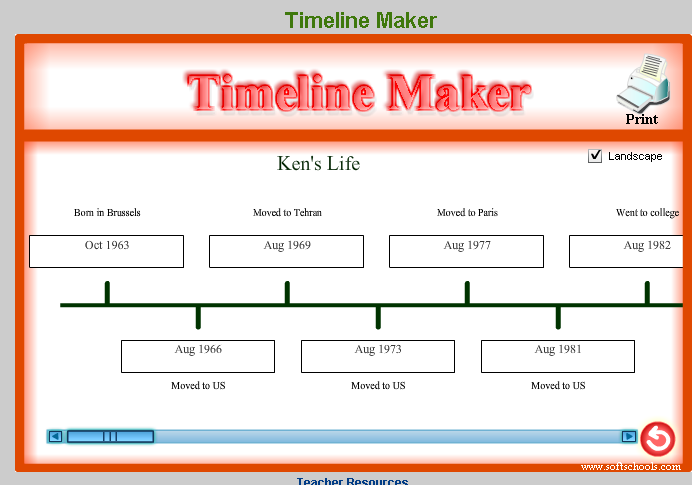 History Timeline Template for Kids