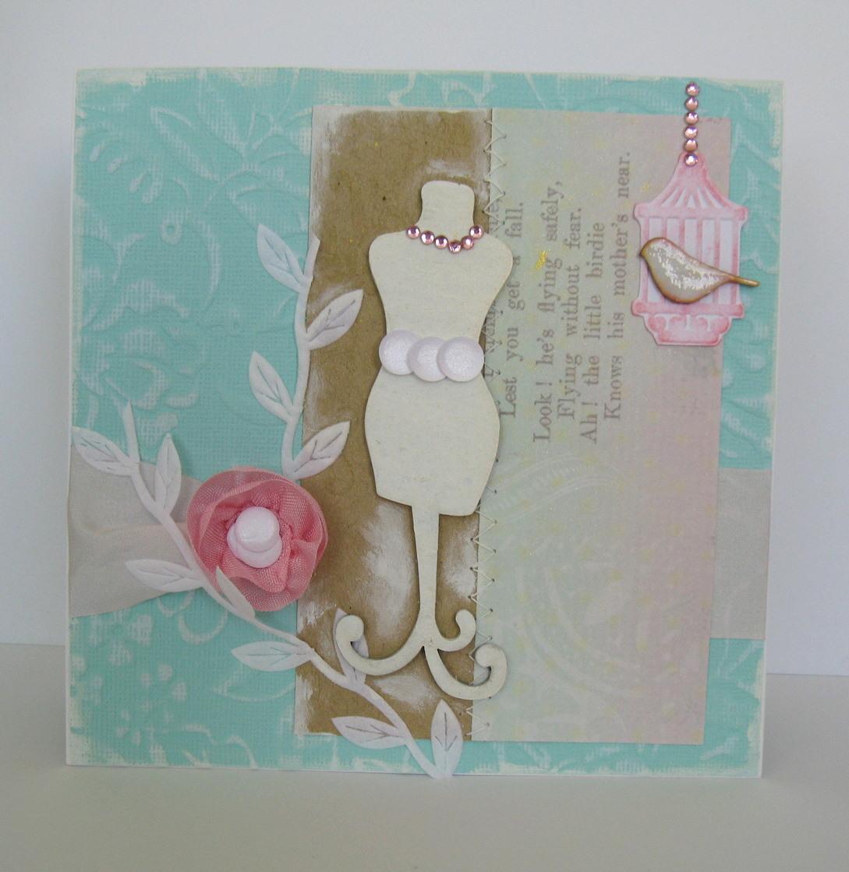 Скрапбукинг открытка модница 95