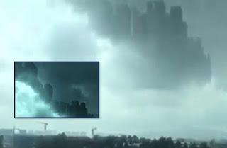 ilusión óptica en China ciudades fantasmas