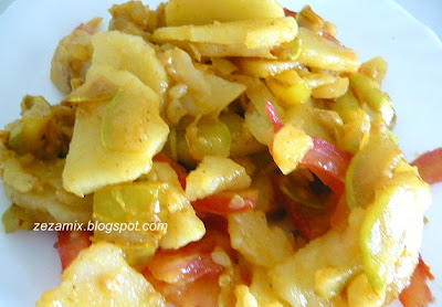 Topla krumpir salata s tikvicama