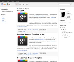 Google Plus Blogger Template