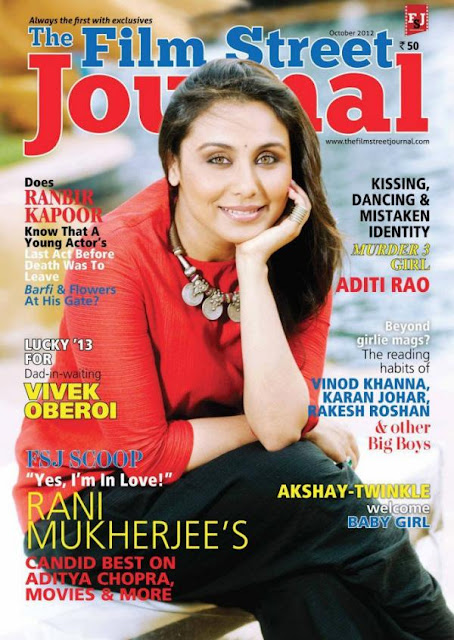Rani Mukerji On The Cover Page Of Film Street Journal