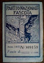1923 - 1921 - TESSERA DEL FASCIO DI TREZZO SULL' ADDA