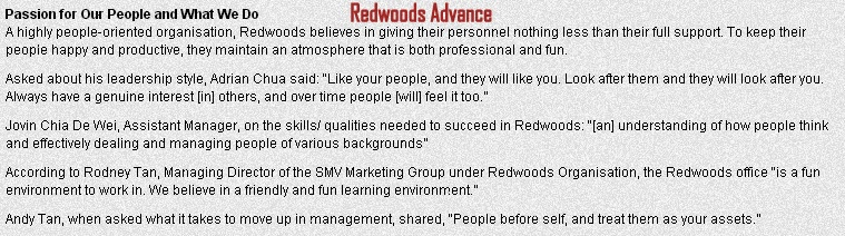 Reasons to choose Redwoods Advance over many others