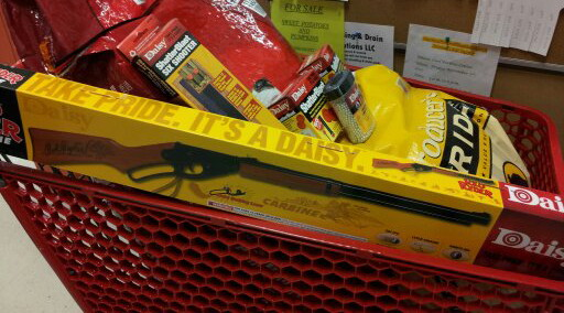 Tractor Supply Shopping Cart with Daisy Red Ryder
