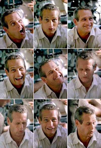 Paul Newman faces