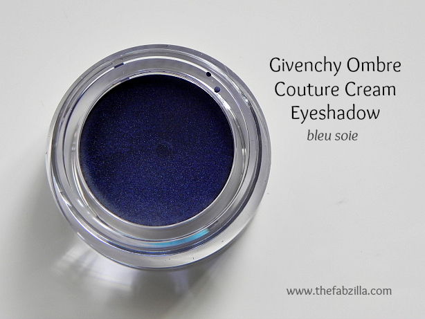 givenchy ombre couture cream eyeshadow bleu soie review, swatch
