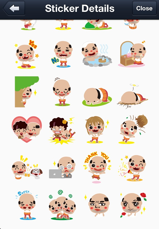 Chicchai Ossan line stickers