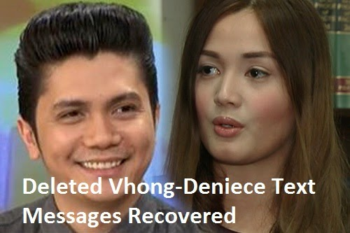 Deleted Vhong-Deniece Text Messages Recovered on Vhong's Phone