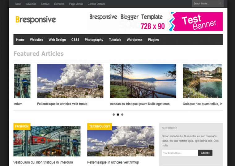 Bresponsive Responsive Blogger Template Free Download