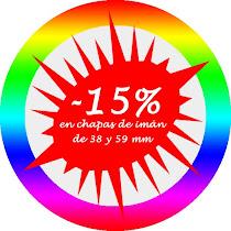 -15% CHAPAS DE IMÁN