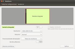 Ajustar la resolución del monitor en Ubuntu, cambiar resolución pantalla ubuntu
