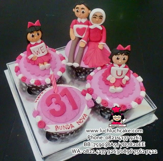 Cupcake Pink Tema Keluarga Daerah Surabaya - Sidoarjo