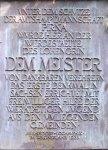 Richard-Wagner-Denkmal im Liebethaler Grund. Gedenktafel