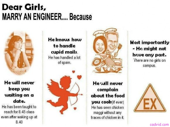 female engineers dating There is all types of engineers out there and each of them can vary in personalities but like all men they are simple you really don't need to over think things with them, they are very honest and to the point but like with any man they have their needs as do women when dating an engineer you have to.