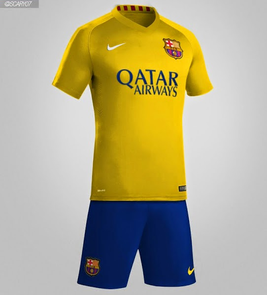 Bocoran Jersey barcelona away musim 2015-2016