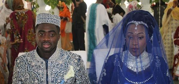 Kolo Toure and wife Chimene Akassou at their Islamic weddingYaya Toure Wife And Kids