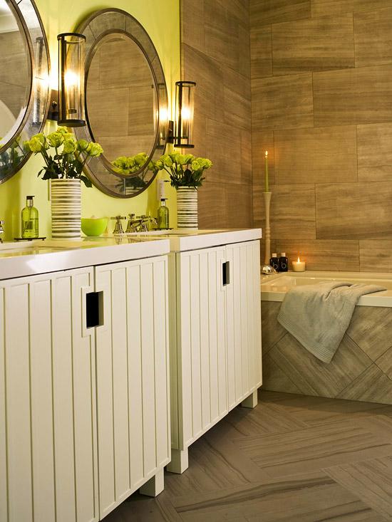 Bug n yeni bir g n dekorasyonun g zde rengi sar for Yellow and green bathroom ideas