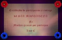 CERTIFICADO DE PARTICIPACIÓN Gracias LucyC