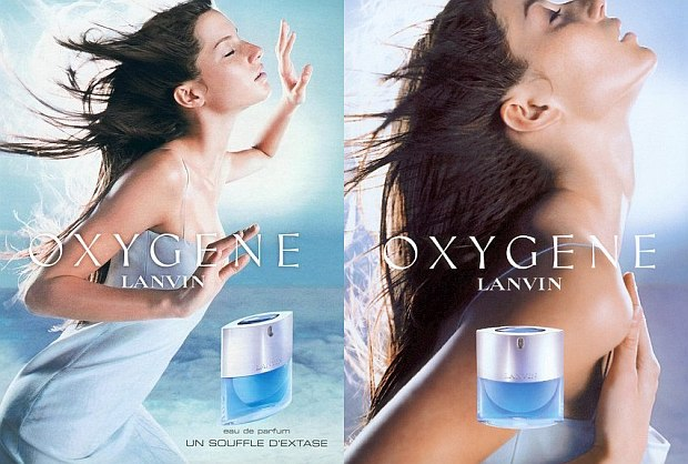 Reklamy perfum Lanvin Oxygene