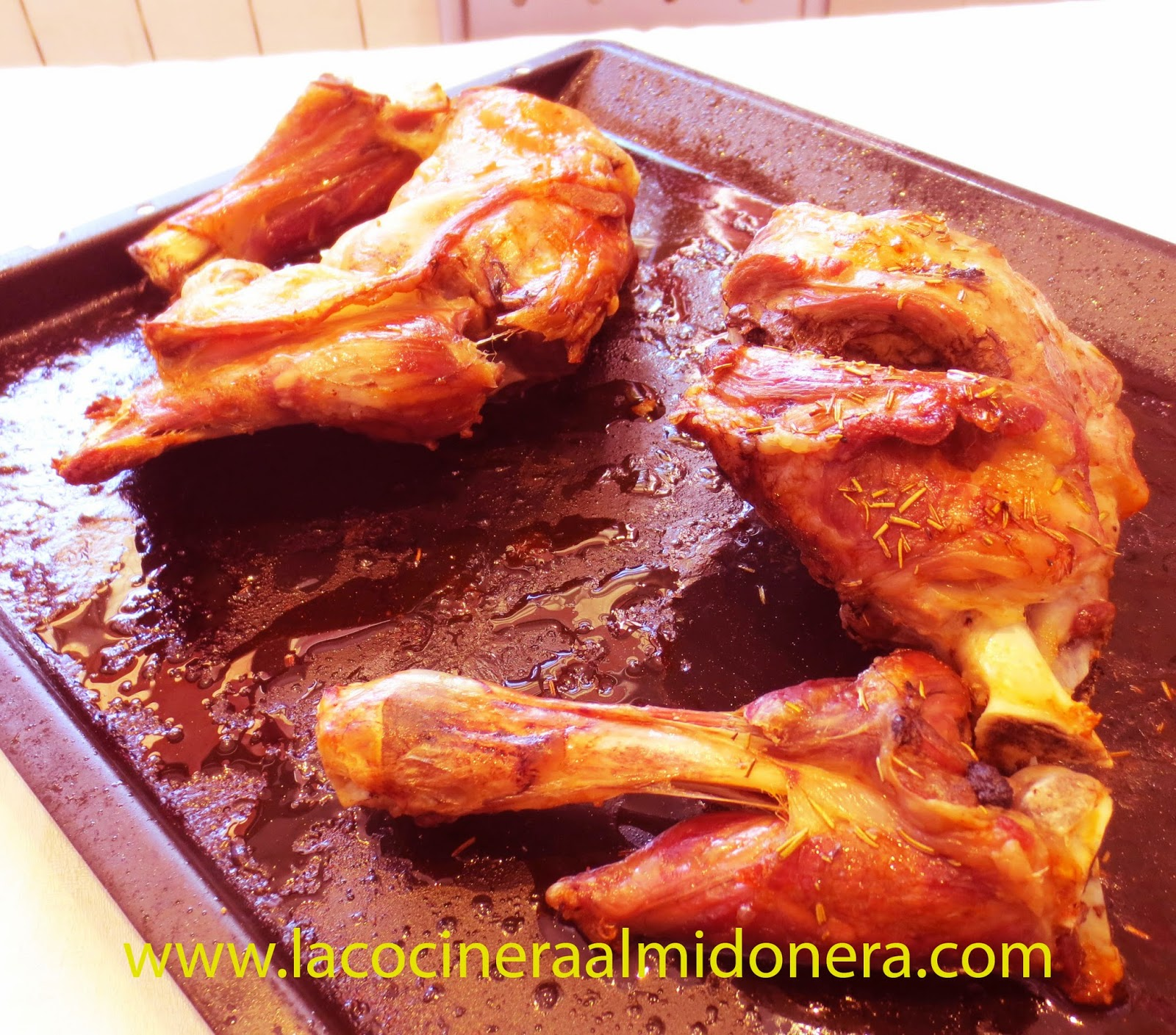 La cocinera almidonera pierna de cordero lechal al horno - Pierna de cordero lechal ...