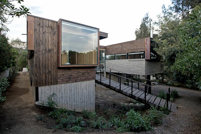 casa de campo fachada en madera