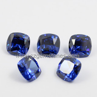 blue cubic zirconia wholesale
