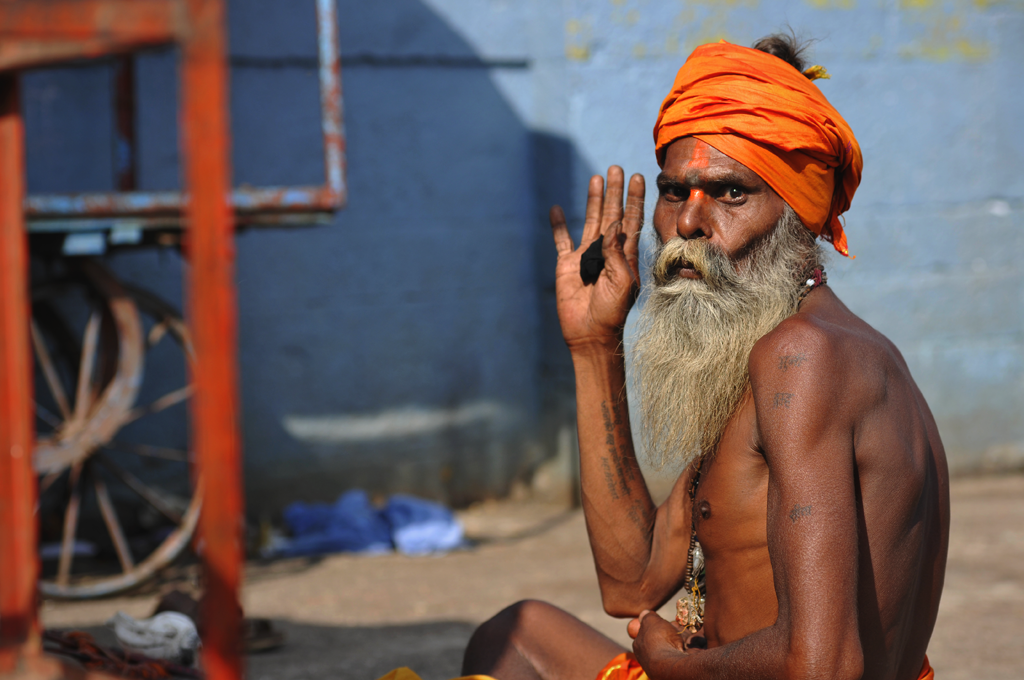 Photo of a sadhu in India