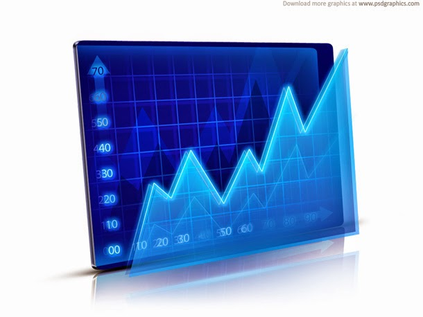 Financial Graph Icon PSD